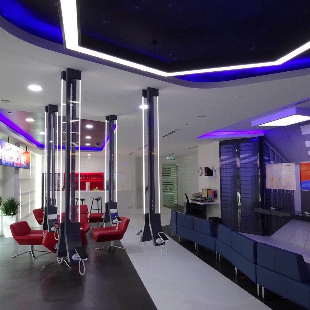 Lounge area at Huawei CSIC office at Cyberjaya. Selangor, Malaysia