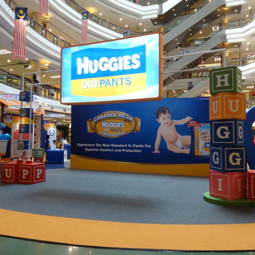 Huggies Dry roadshow at One Utama shopping mall. Petaling Jaya, Selangor, Malaysia